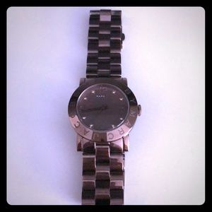 Marc Jacobs fashion watch in bronze metal